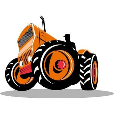 Illustration of a tractor Hamilton