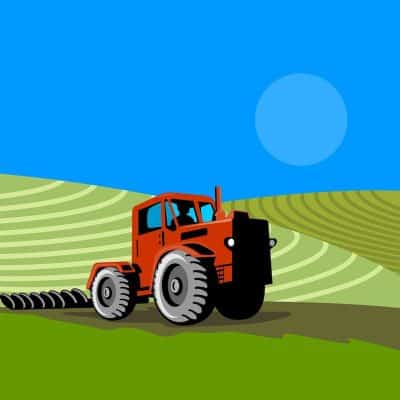 Painting tractors and barns